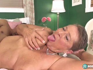 What will 64-year-old Joanne do with the fourth cock of her life? - 60PlusMilfs
