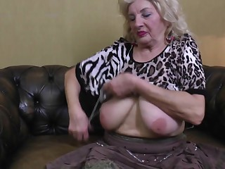 Very Old Granny Oma GILF with Big Saggy Tits