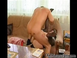 Horny housewife gets banged