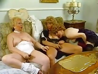 Three hairy grannies playing with each other