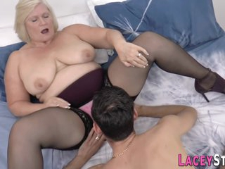 Thick Grandma Gets Her Cunt Railed