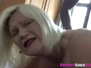 Busty British Grandmother Lacey Starr Tittyfucks And Bangs Big Black Cock